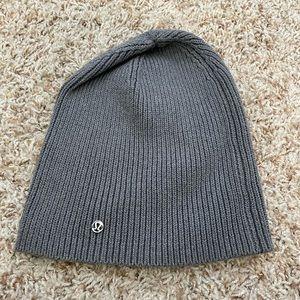 Lululemon Grey Knit Beanie